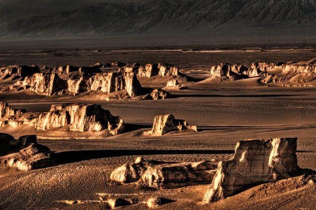 Memorial stamp for Lut Desert registration in UNESCO published
