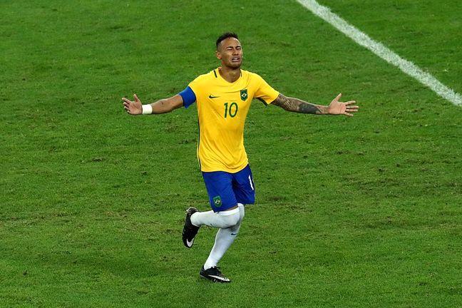 Neymar hands Brazil precious soccer gold medal