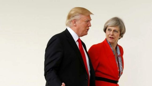 Trump speaks with Britain's May on Iran, North Korea