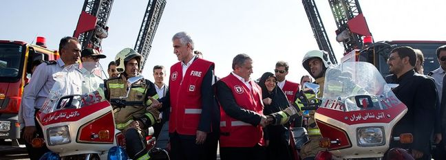 Four-Wheel Motorcycles for Tehran's Firefighters
