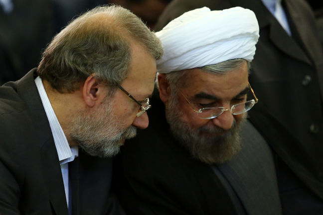 Rouhani Boosted as Iran Speaker Challenges Rivals' Poll Vows
