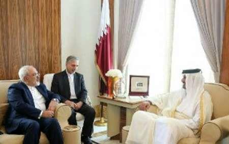Zarif, Qatari Emir hold talks