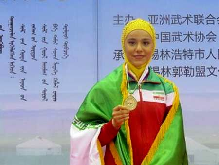 Iranian female Wushu fighter bags gold medal in World Champs