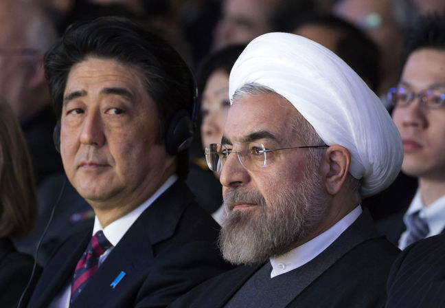 Japanese PM, FM felicitate Rouhani's victory