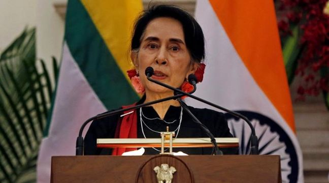 Myanmar's Suu Kyi denounces terrorists, silent on Rohingya exodus
