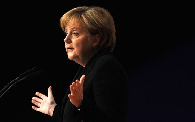 Merkel Offers Tips on Coolness After Being Splattered by Tomato