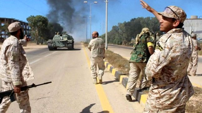 Libyan forces capture Sirte convention center from IS