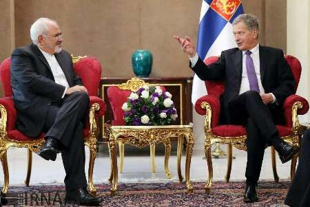 Finland President, Zarif discuss bilateral ties, regional issues