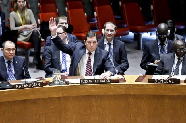 Russia, China block U.N. sanctions on Syria over gas attacks