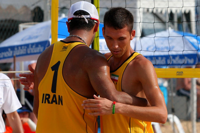 Iran's national beach volleyball team becomes Asia's champion