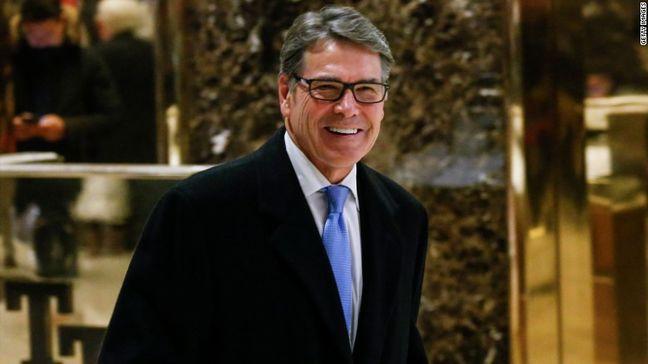 Trump picks former Texas Governor Perry as energy secretary