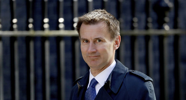 UK PM May appoints Jeremy Hunt as new foreign minister