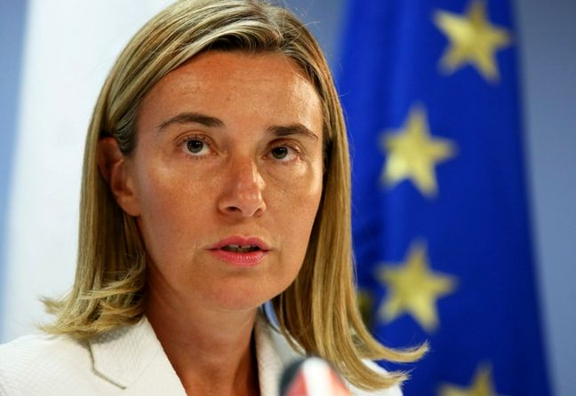 Mogherini says EU to stand by Iran nuclear accord