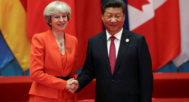 China's Xi calls for appropriate handling of disputes with Britain