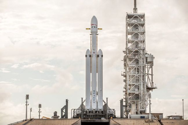 Musk Sends a Tesla Into Space Atop World's Most Powerful Rocket