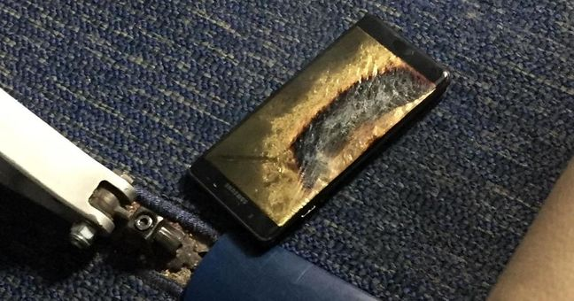 Replacement Samsung Note 7 phone emits smoke on U.S. plane: family