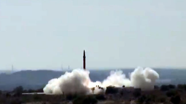 Pakistan launches ballistic missile amid growing regional arms race