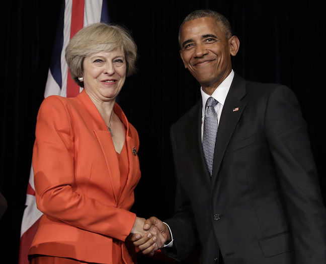British PM May says discussed Brexit with Obama