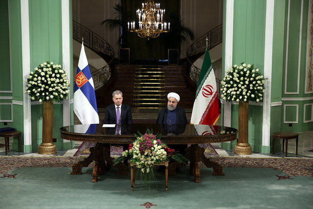 Rouhani says no limitation for Iran, Finland cooperation