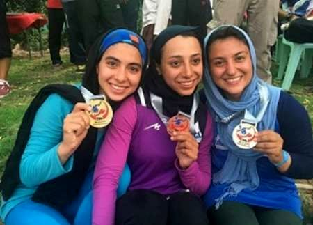Iranian athletes bag medals in Canoe Champs