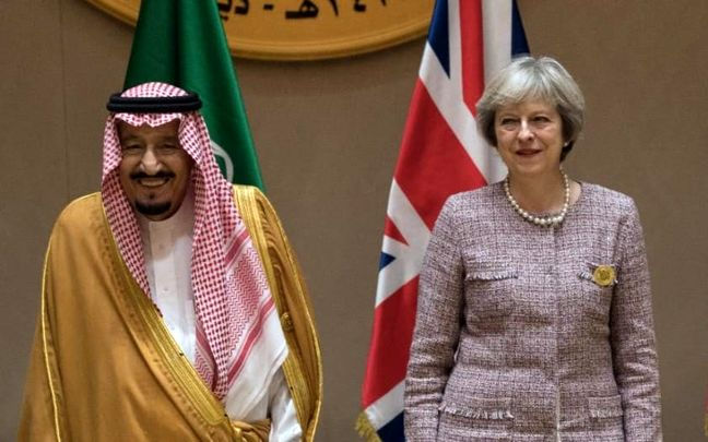 May Eyes the 'Long Term' With Saudis, Security and Trade First