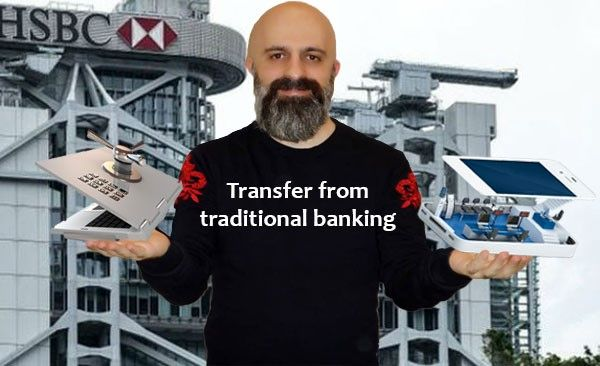 Transfer from traditional banking