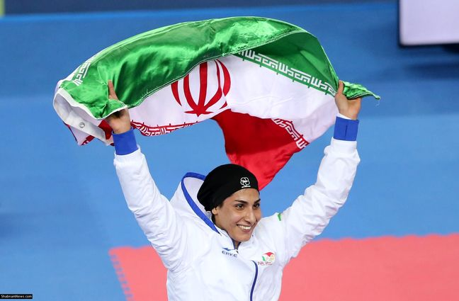 Iran's female Wushu athlete wins gold medal in Asian championship