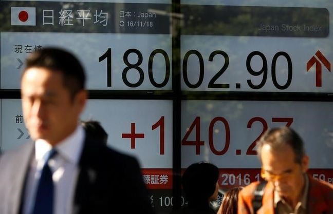 Dollar loses altitude, Asia shares touch 11-week high