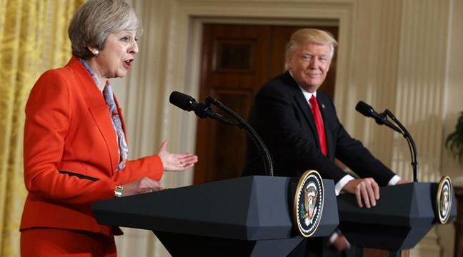 Trump Tells May He'll Maintain Trade Terms for U.K. After Brexit