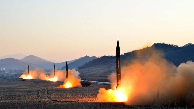 North Korea test-fires missile into sea ahead of Trump-Xi summit