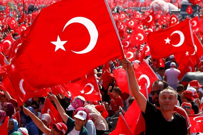 Turkey's Erdogan stages mass rally in show of strength after coup attempt