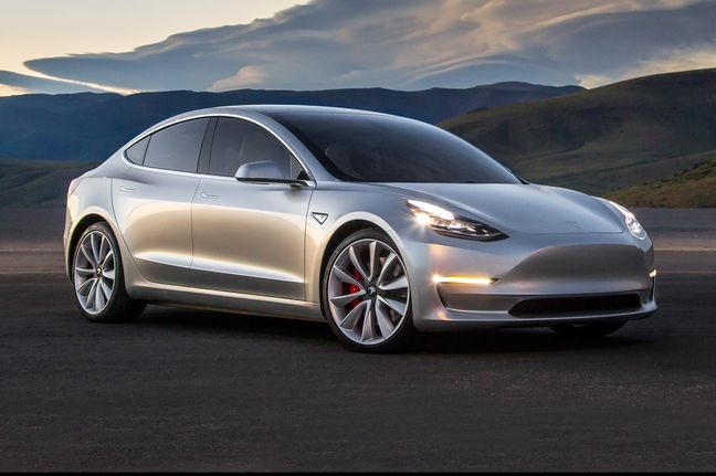 Elon Musk tweets photos of first Tesla Model 3 to roll off the line