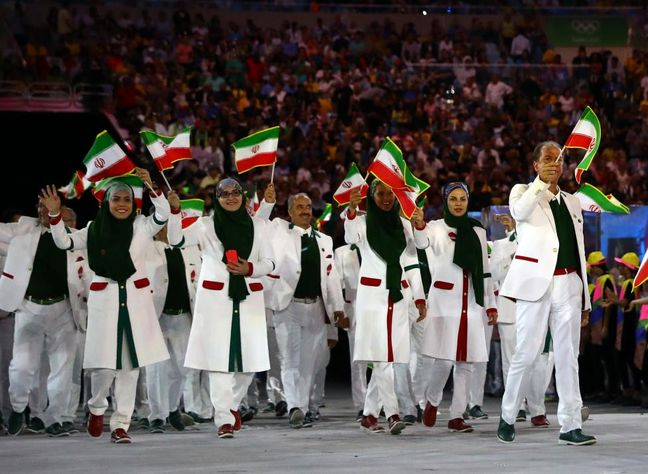 Parade of Iranian athletes in Rio Olympic 2016